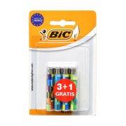 BIC Αναπτήρες Mini Διάφορα Σχέδια 3τεμ + 1 Δώρο