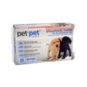 PET PET Επιδαπέδιες Πάνες Ζώων 60x60cm 15τεμ