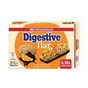 ΠΑΠΑΔΟΠΟΥΛΟΥ Digestive Bar Μπάρες Δημητριακών με Πορτοκάλι & Επικάλυψη Μαύρης Σοκολάτας 5x28gr