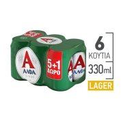 ΑΛΦΑ Μπίρα Lager 5x330ml +1 Δώρο