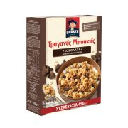 QUAKER Τραγανές Μπουκιές Δημητριακών με Βρώμη & Σοκολάτα Υγείας 450gr