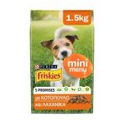 FRISKIES Mini Menu Ξηρά Τροφή Σκύλου Κοτόπουλο Λαχανικά 1,5kg
