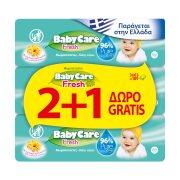 BABYCARE Μωρομάντηλα Fresh 2x63τεμ +1 Δώρο