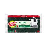 SCOTCH-BRITE Σφουγγαράκι Αντιβακτηριδιακό Μικρό Πράσινο 2τεμ +1 Δώρο