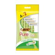 BIC Ξυραφάκια Μιας Χρήσης Pure Lady 3 Λεπίδες 4τεμ +2 Δώρο