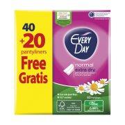 EVERYDAY Extra Dry Σερβιετάκια Normal Χαμομήλι 40τεμ +20 Δώρο