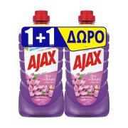 AJAX Γιορτή Λουλουδιών Καθαριστικό Υγρό Γενικής Χρήσης Άνθη Πασχαλιάς 1lt+1 Δώρο