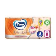 ZEWA Deluxe Χαρτί Υγείας Ροδάκινο 3 Φύλλων 8τεμ 728gr