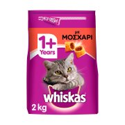 WHISKAS Ξηρά Τροφή Γάτας 1+ετών Κροκέτες Γεμιστές με Μοσχάρι 2Kg