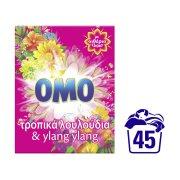 OMO Απορρυπαντικό Πλυντηρίου Ρούχων Σκόνη Τροπικά Λουλούδια 45 πλύσεις