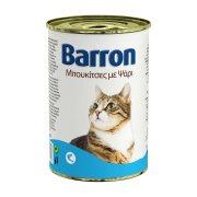 BARRON Υγρή Τροφή Γάτας Ψάρι Μπουκιές 400gr