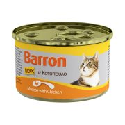 BARRON Υγρή Τροφή Γάτας Κοτόπουλο Μους 85gr