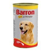 BARRON Υγρή Τροφή Σκύλου Μοσχάρι Πατέ 1,23kg