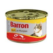 BARRON Υγρή Τροφή Γάτας Μοσχάρι Μους 85gr
