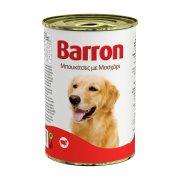 BARRON Υγρή Τροφή Σκύλου Μοσχάρι Μπουκιές 400gr