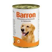 BARRON Υγρή Τροφή Σκύλου Κοτόπουλο & Γαλοπούλα Μπουκιές 400gr