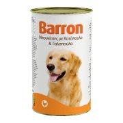 BARRON Υγρή Τροφή Σκύλου Κοτόπουλο & Γαλοπούλα Μπουκιές 1,23Kg