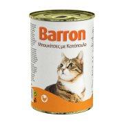 BARRON Υγρή Τροφή Γάτας Κοτόπουλο Μπουκιές 400gr