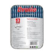 DROLIO Σκεύη Αλουμινίου με Καπάκι Μεσαία 3τεμ