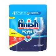 FINISH All In 1 Max Απορρυπαντικό Πλυντηρίου Πιάτων Ταμπλέτες Λεμόνι 20τεμ 326gr