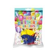 Μπαλόνια με σχέδιο Happy Birthday 10τεμ