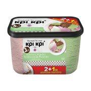ΚΡΙ ΚΡΙ Heartmade Παγωτό Βανίλια Κακάο Φράουλα Φιστίκι 1kg (2lt) +50% Δώρο