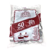 LION Κεριά Ρεσώ Λευκά 50τεμ