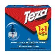 TEZA Εντομοαπωθητικό Υγρό για 60 Νύχτες Ανταλλακτικό 1τεμ +1 Δώρο