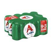 ΑΛΦΑ Μπίρα Lager 9x330ml +3 Δώρο