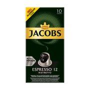 JACOBS Καφές Espresso Ristretto 12 σε Κάψουλες συμβατές με μηχανή Nespresso 10x5,2gr