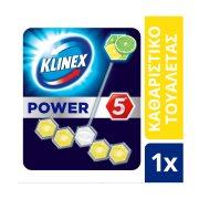 KLINEX Power 5 Στερεό  Block Τουαλέτας Πράσινο Λεμόνι 55gr
