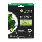 GARNIER Μάσκα Προσώπου Υφασμάτινη με Άνθρακα 28gr