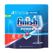 FINISH All In 1 Max Απορρυπαντικό Πλυντηρίου Πιάτων Ταμπλέτες Κανονικό 27τεμ 396gr