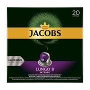 JACOBS Καφές Espresso Lungo Intenso 8 σε Κάψουλες συμβατές με μηχανή Nespresso 20x5,2gr