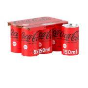 COCA COLA Zero Αναψυκτικό Χωρίς ζάχαρη 6x150ml