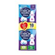 EVERYDAY Sensitive Cotton Σερβιέτες Ultra Plus Extra Long 18τεμ