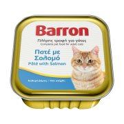 BARRON Υγρή Τροφή Γάτας με Σολομό Πατέ 100gr
