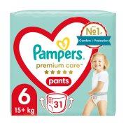 PAMPERS Premium Care Pants Πάνες Βρακάκι Νο6 15+kg 31τεμ
