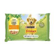 FRISKIES Τροφή Σκύλου Κοτόπουλο & Αρακάς σε Ζελέ 4x100gr