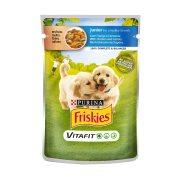 FRISKIES Vitafit Junior Υγρή Τροφή Σκύλου Κοτόπουλο&Καρότο σε σάλτσα 100gr