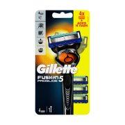 GILLETTE Ανταλλακτικές Κεφαλές Fusion Proglide 4 τεμ +Δώρο Η Λαβή