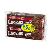 ΠΑΠΑΔΟΠΟΥΛΟΥ Cookies Μπισκότα με Κομμάτια Σοκολάτας & Κακάο 2x180gr