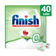 FINISH All In 1 0% Απορρυπαντικό Πλυντηρίου Πιάτων Ταμπλέτες 40τεμ 652gr