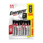 ENERGIZER Μπαταρίες Max E91 AA 4τεμ + 2τεμ Δώρο