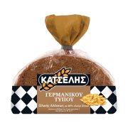 ΚΑΤΣΕΛΗΣ Γερμανικού Τύπου Ψωμί Ολικής Άλεσης με Αλεύρι Ντίνκελ 400gr