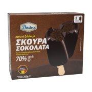 DESINO Παγωτό Ξυλάκι Σκούρα Σοκολάτα 70% 3τεμ 240gr (360ml)