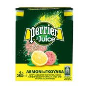 PERRIER Ανθρακούχο Νερό Με Χυμό Λεμονιού&Guava 4x250ml