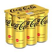 COCA COLA Zero Αναψυκτικό με Λεμόνι Χωρίς ζάχαρη 6x330ml