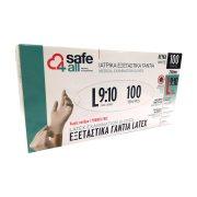 SAFE4ALL Γάντια Λάτεξ Χωρίς Πούδρα Large 100τεμ