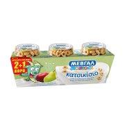 ΜΕΒΓΑΛ Maniacs Επιδόρπιο Γιαουρτιού Κατσικίσιο Μήλο & Αχλάδι 2x134gr +1 Δώρο